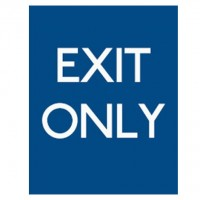 Exit Only Blue Background - Pack of 10 - Poster | Sticker | Sign
