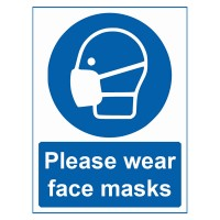 Please Wear Face Masks - Pack of 10 - Poster | Sticker | Sign