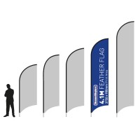 4.1m Large Promotional  Feather Flag
