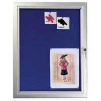Lockable Felt Pinnable Notice Board