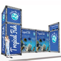 Medium Modular Stand Open 3 Sides - 7x2m
