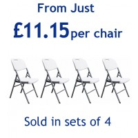 Set of 4 Folding Plastic Chairs