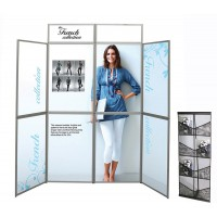Heavy Duty Aluminium 8 Panel Folding Display with Graphics