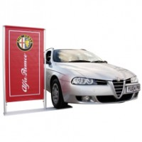 Car Forecourt Banner Display System