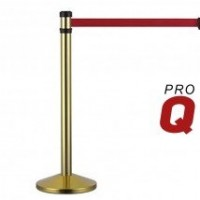 2m Gold Retractable VIP Barrier