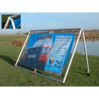 Heavy duty portable banner frame