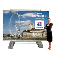 Standard banner frame takes PVC banners 2500mm wide x 2000mm high