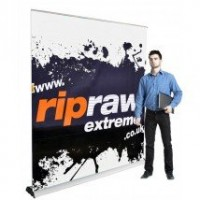 2m Wide Retractable Banner Stand