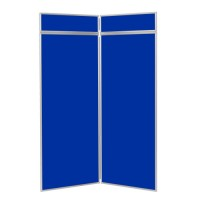 2 Panel Jumbo Folding Display Board - Aluminium Frame