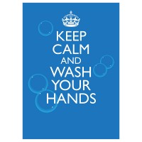 Keep Calm and Wash Your Hands - Pack of 10 - Poster | Sticker | Sign