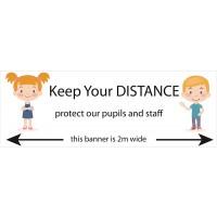 Social Distancing School Banners - Design 1