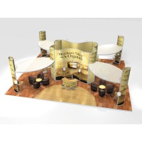 Large Modular Stand Open 4 Sides - 12x10m