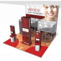 Medium Modular Stand Open 3 Sides - 6x6m