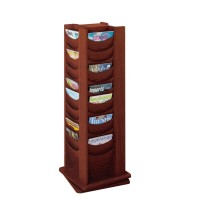 Mahogany Revolving Literature Dispenser