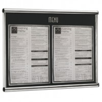 Menu Frame Wall Mounted