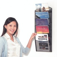 A4 Wire Wall Mounted Brochure Dispenser