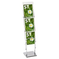 Media 4 Deluxe Literature Display Rack 3xA4
