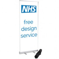 800mm Wide Banner Stand - NHS Free Design Service