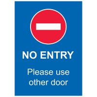 No Entry Please Use Other Door - Pack of 10 - Poster | Sticker | Sign