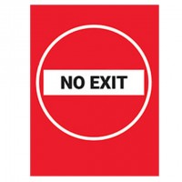 No Exit Red Background - Pack of 10 - Poster | Sticker | Sign