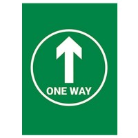 One Way Arrow Green Background - Pack of 10 - Poster | Sticker | Sign