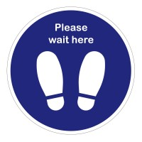 Please Wait Here Feet Floor Stickers - Pack of 6
