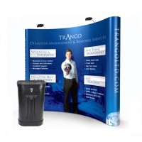 Premium 3x3 Pop Up Stand - Curved with Printed Graphics