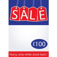 Limited stock sale poster