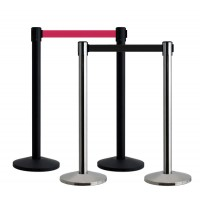 Pair of Budget QueueWay Retractable Barriers - 3.65m