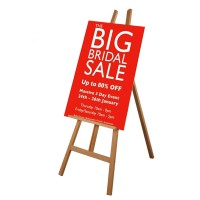 Display Easel with Printed Sign