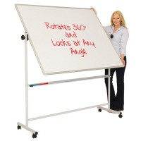 Mobile Swivel Whiteboard / Chalkboard