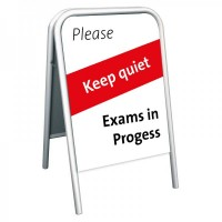 School Pavement Sign - Keep Quiet Exams in Progress