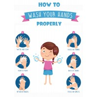 Schools How To Wash Your Hands - Pack of 10 - Poster | Sticker | Sign