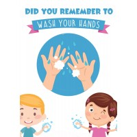 Wash Your Hands - Pack of 10 - Poster | Sticker | Sign for schools