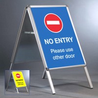 """No Entry 20""""x30"""" A Board - INCLUDES POSTERS"""