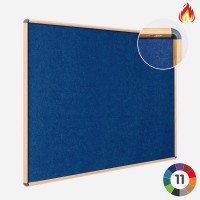 Flame Resistant Pinnable Wood Effect Frame Notice Board