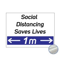 Printed Correx Signs - Pack of 10 - Social Distancing 1m / 2m