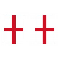 St George English Bunting - Small 10 Flags / 3m Length