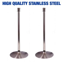 ProQ - Stainless Steel Rope and Post Stanchions - PAIR