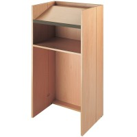 Folding Wooden Lectern with Shelf