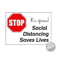 Printed Correx Signs - Pack of 10 - Stop The Spread