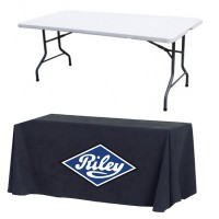 Custom Printed Tablecloth and 6ft Table Package