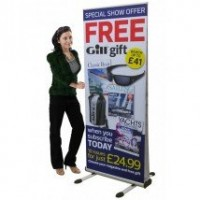 Thunder Outdoor Roll up Banner Stand 850mm wide