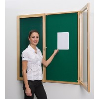Wooden Lockable Noticeboard
