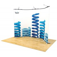 Twist Tensioned Linked Banner Stands