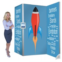 Seamless Fabric Modular Display Stand -  Vector Kit 4