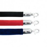 Velvet Rope 1.5m Red, Blue, Black