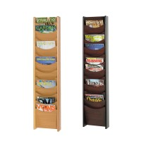 Wooden Wall Literature Dispenser