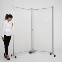 COVID-19 Floor Standing Screen with Flexible Connector Kit