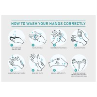 How To Wash Your Hands - Pack of 10 - Poster   Sticker   Sign